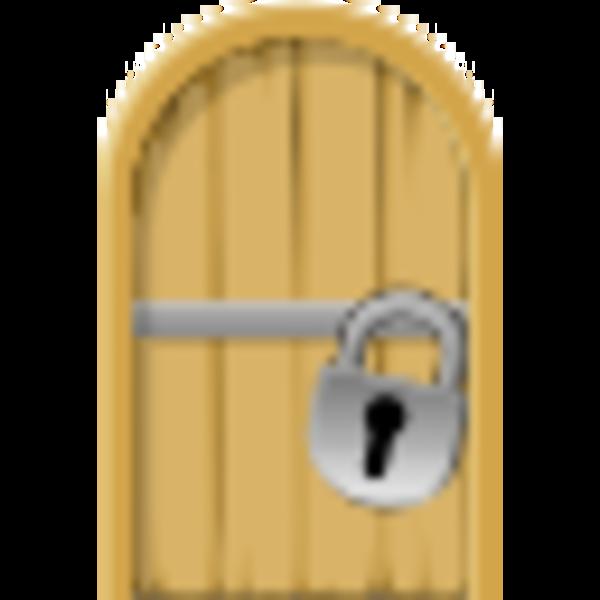 Door . Lock clipart cute