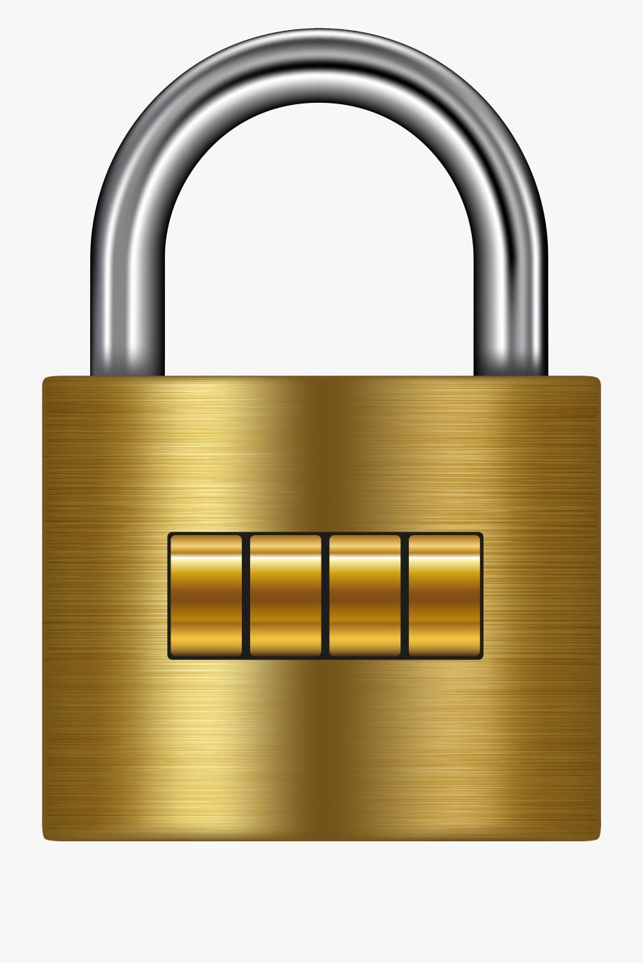 Lock clipart cute. Gold png clip art