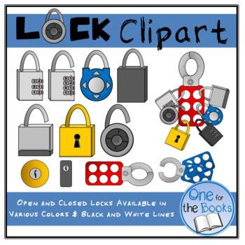 Escape room . Lock clipart digital