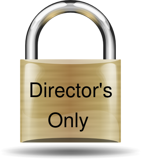 Director clip art at. Lock clipart golden