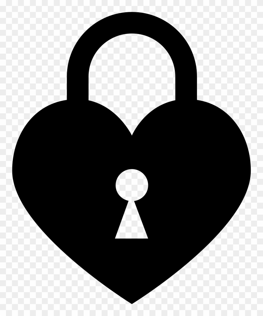 Locked svg png icon. Lock clipart heart