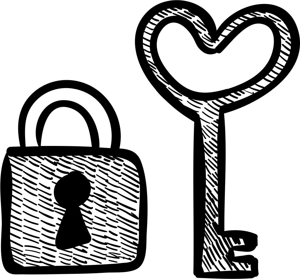 Key and padlock svg. Lock clipart heart shaped lock
