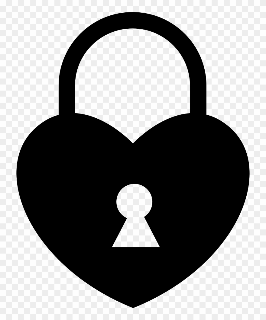 Lock clipart heart shaped lock. Locked svg png icon