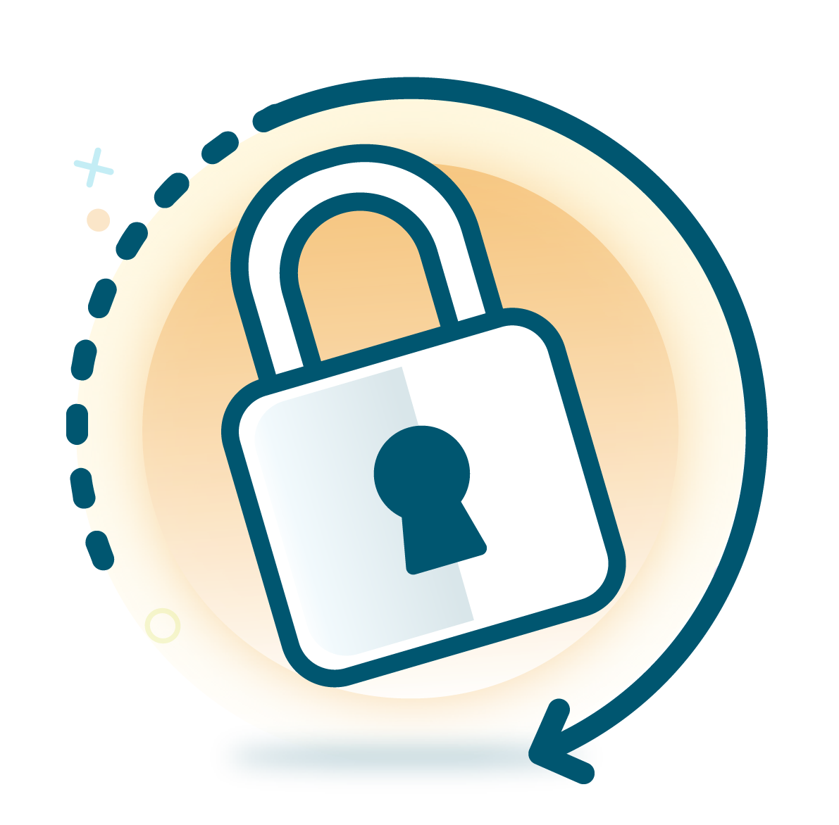 Managed and penetration testing. Lock clipart internet security