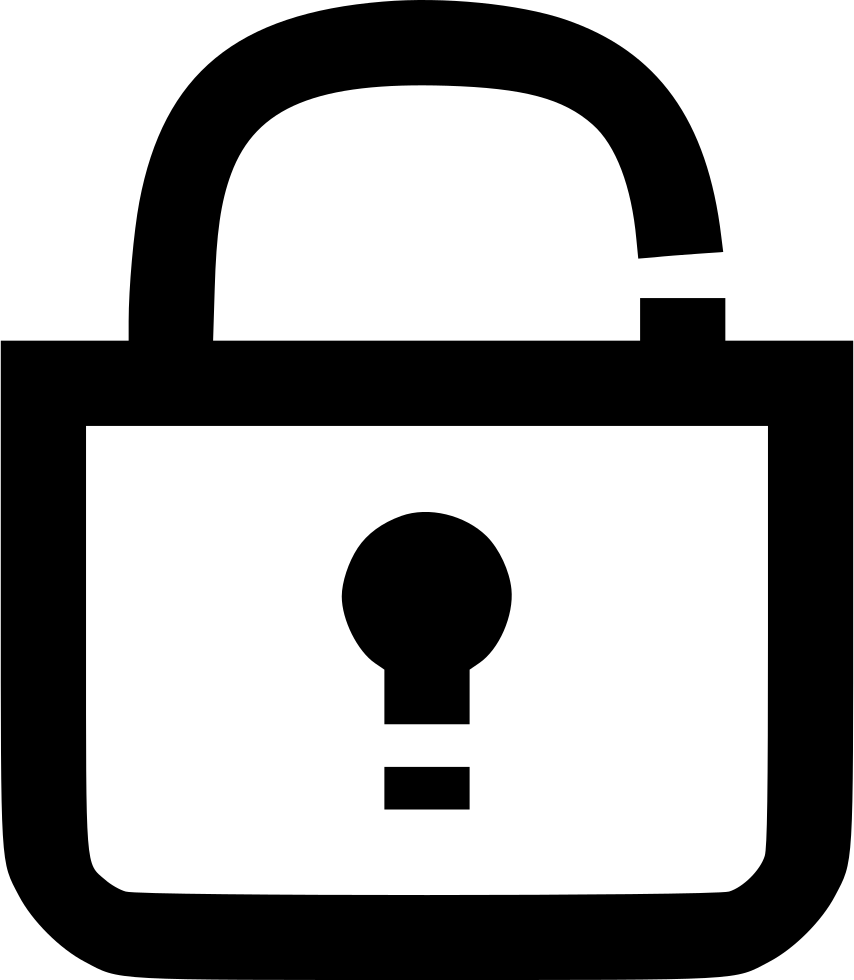 Access allowed secure password. Lock clipart internet security