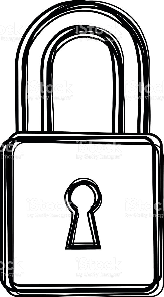 Drawing free download best. Lock clipart line art