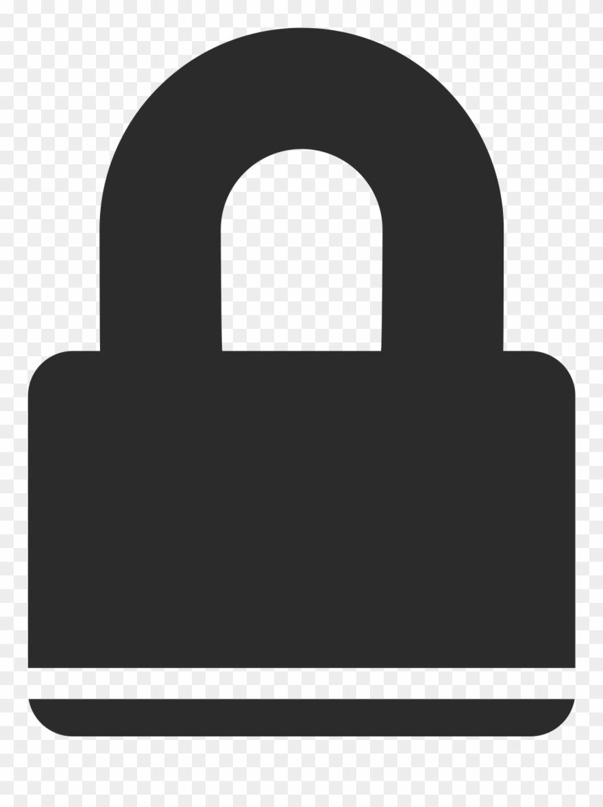 Lock clipart line art. Clip padlock png download