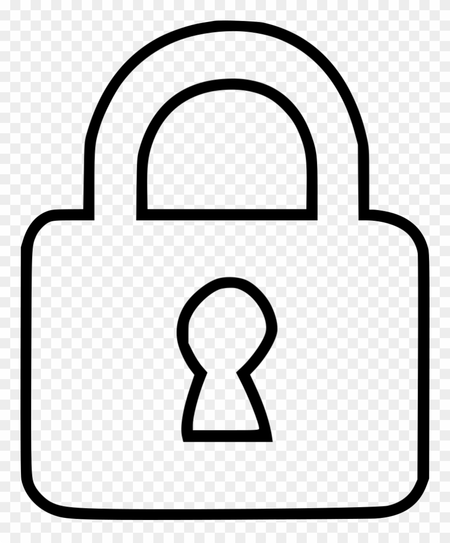 Drawing file clip free. Lock clipart line art