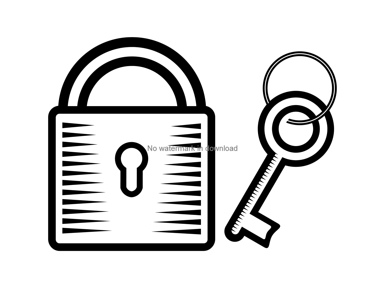 Svg cutting file digital. Lock clipart lock and key
