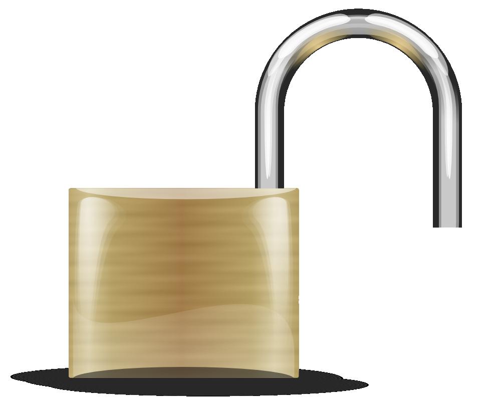 Lock clipart lock chain. Onlinelabels clip art open