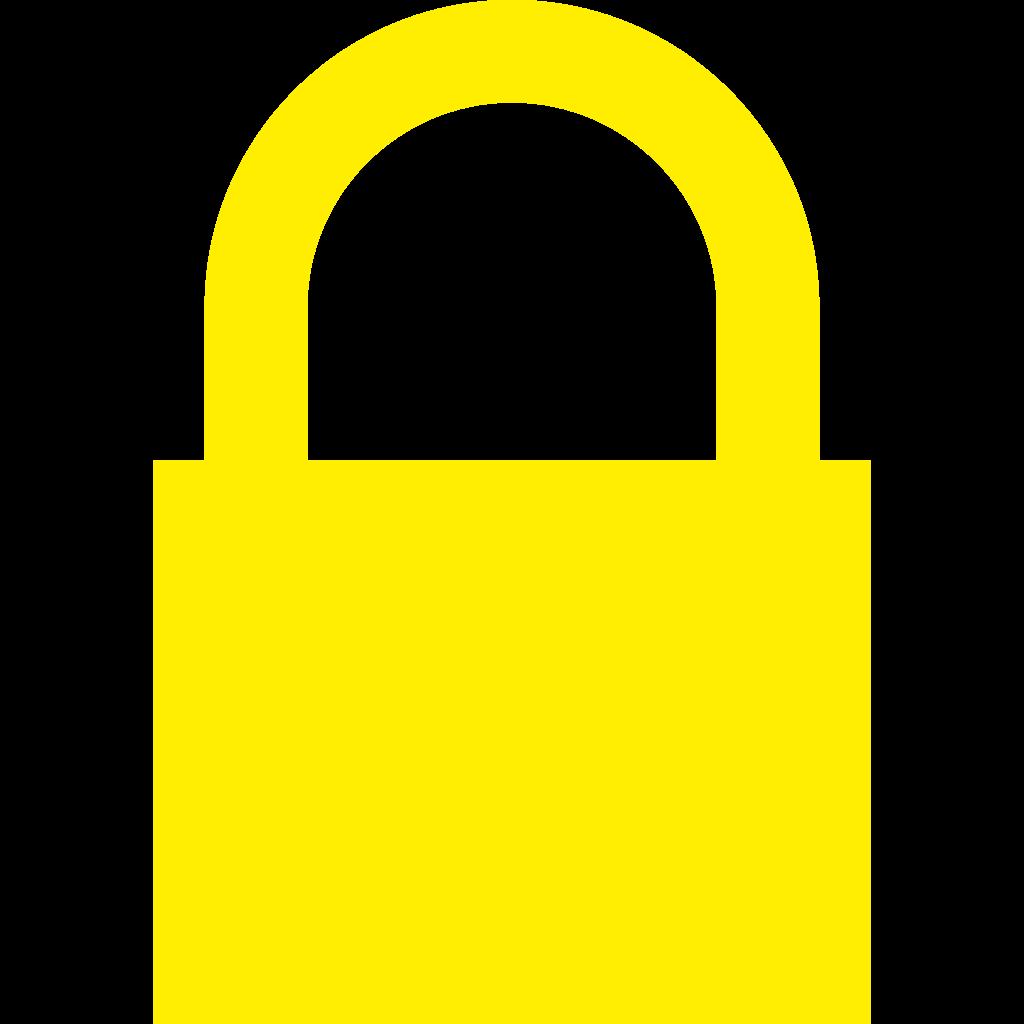 File yellow padlock svg. Lock clipart lock icon