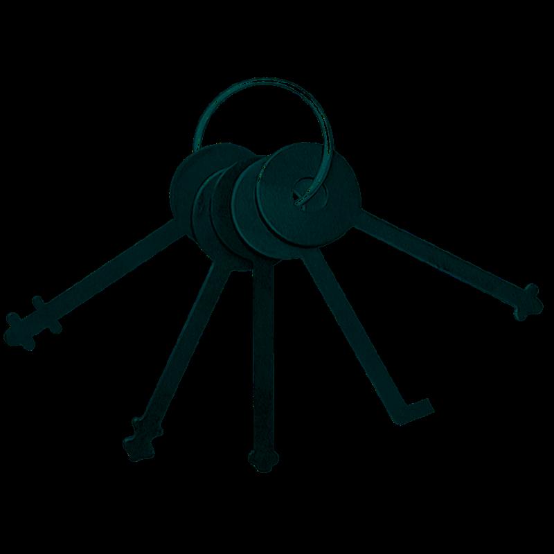 Warded padlock set zieh. Lock clipart lock pick