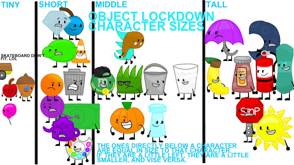 Lock clipart lockdown. Object character sizes by