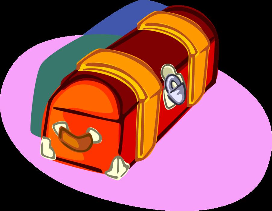 Foot with padlock vector. Lock clipart locker