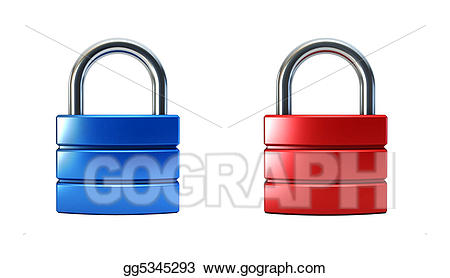 Lock clipart metal. Stock illustrations closed