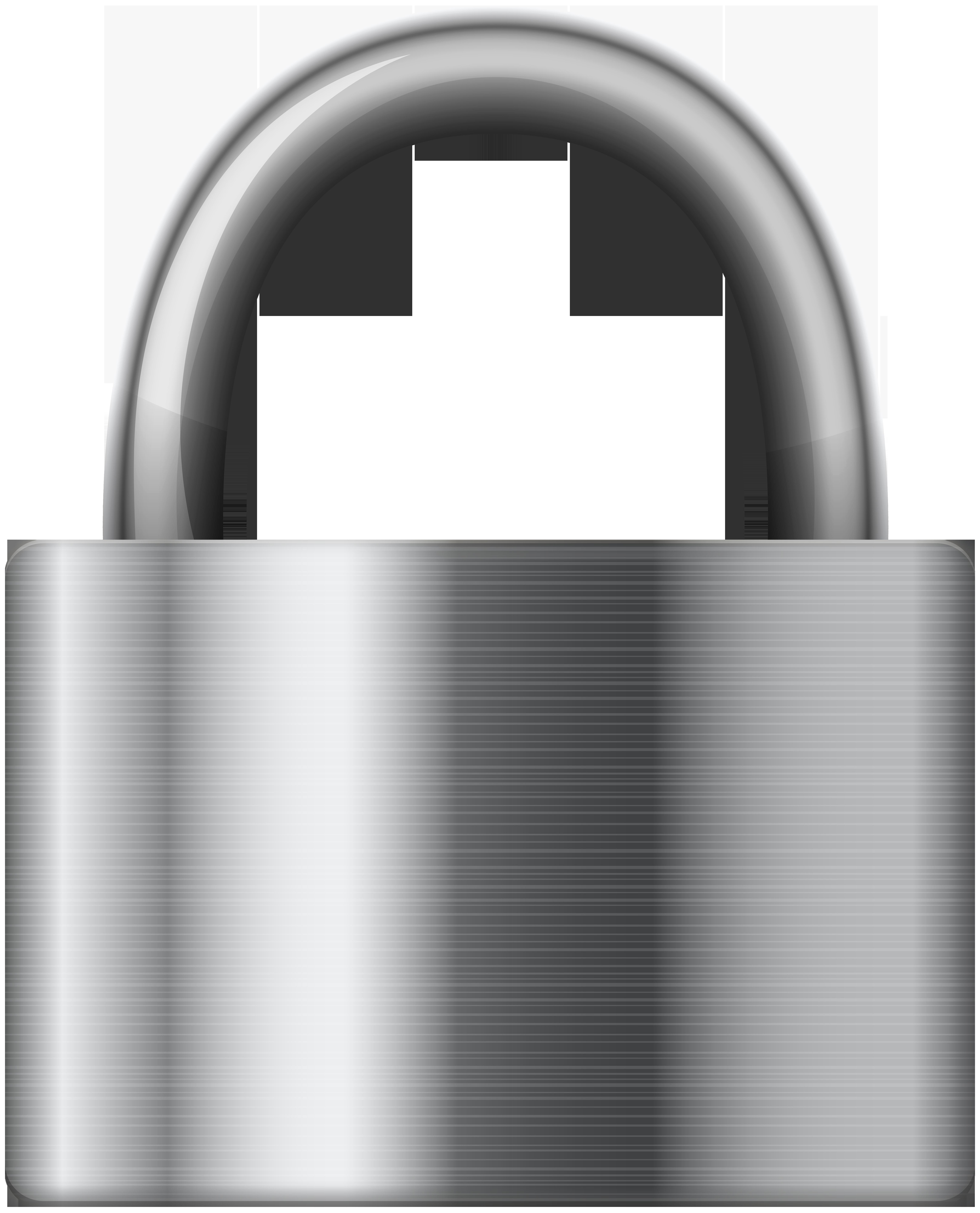 Lock clipart metal. Stainless steel iron padlock