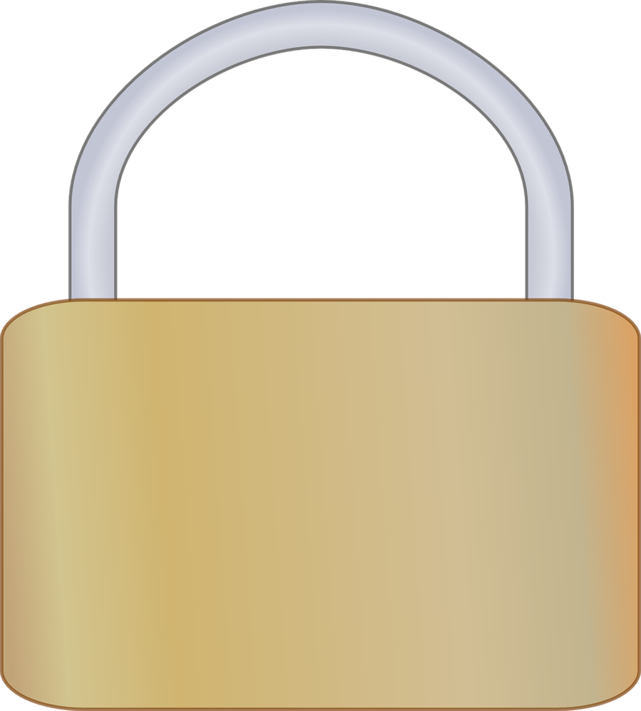 Background security product . Lock clipart metal