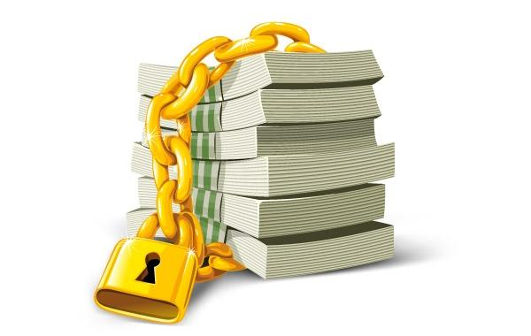 Free download clip art. Money clipart lock