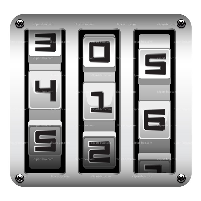 Lock clipart number lock. Free combination cliparts download