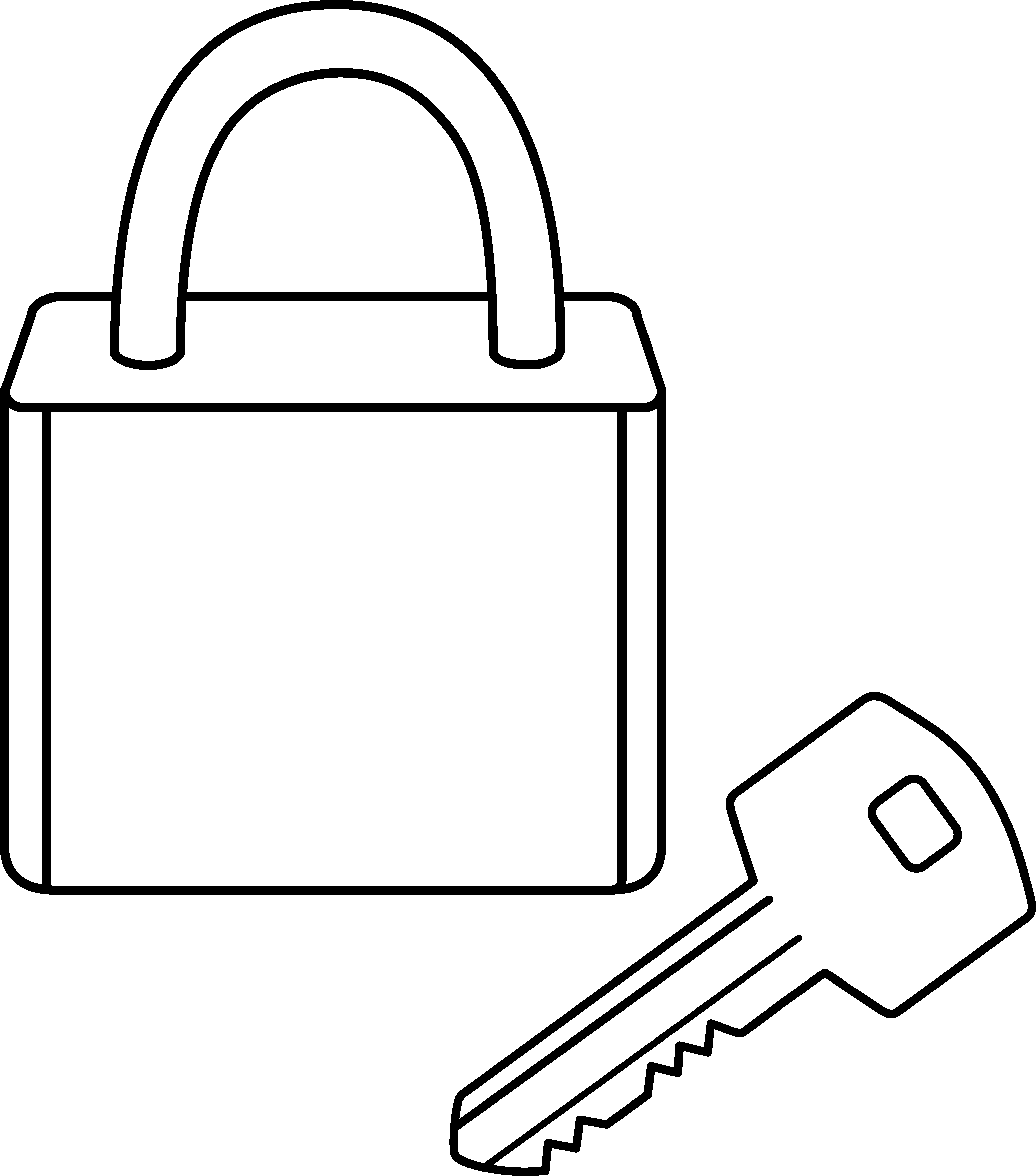 Lock clipart open. Outline cliparts free collection