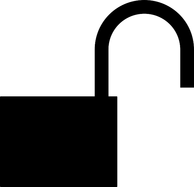Padlock icon web icons. Lock clipart open