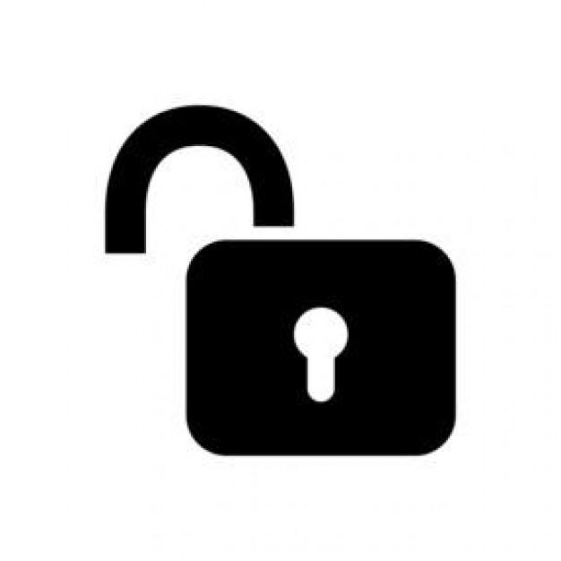 padlock clipart open