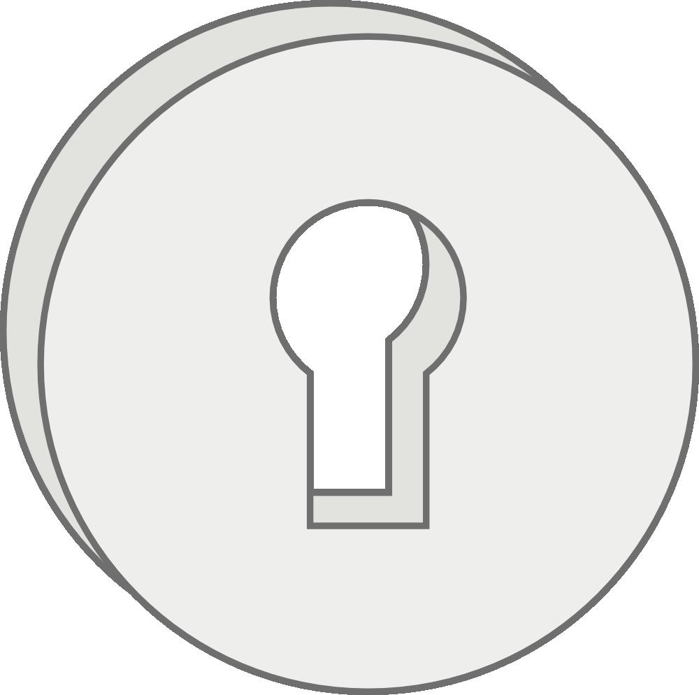 Clip art of locks. Lock clipart outline
