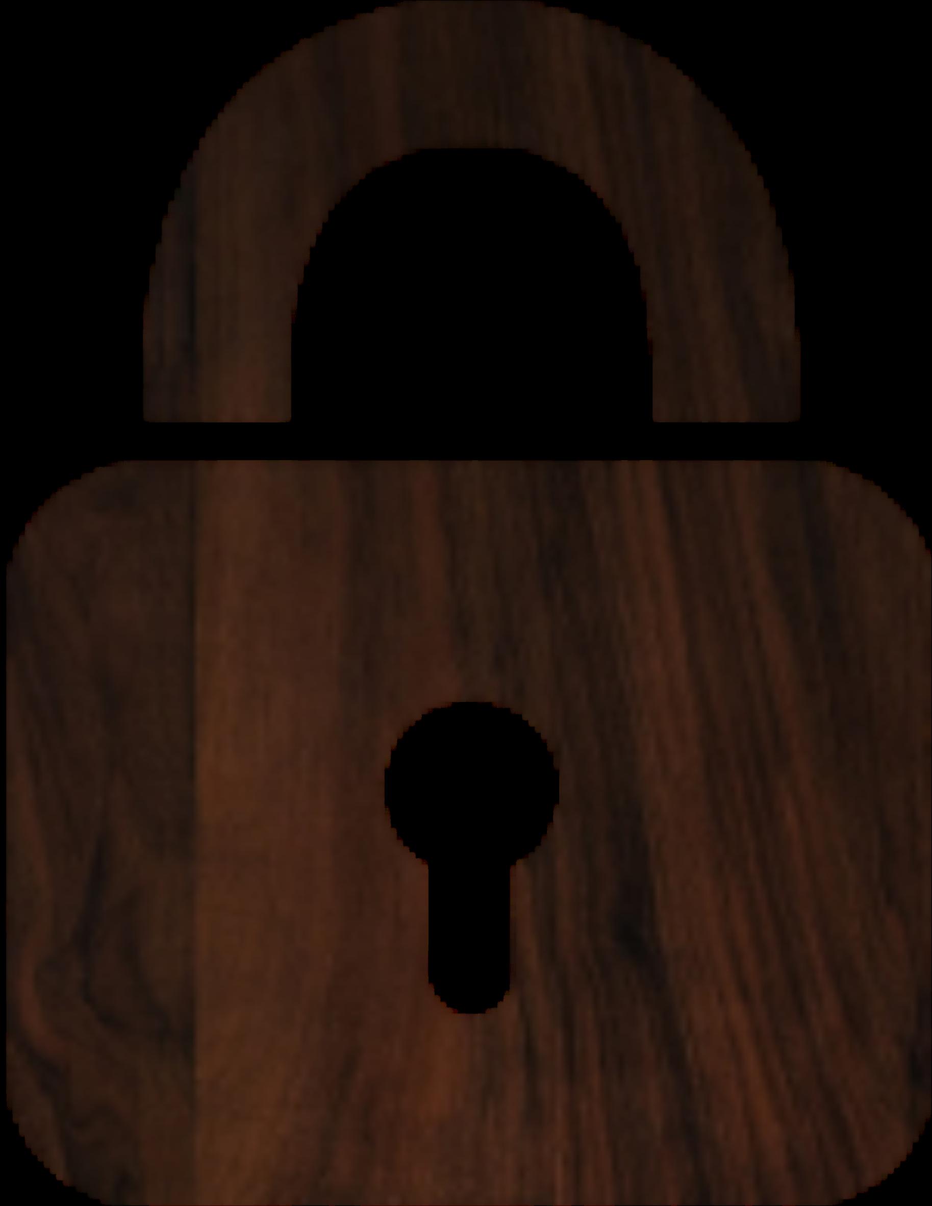 Wood big image png. Lock clipart outline