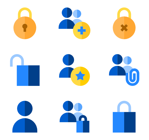 Lock clipart privacy. Padlock icons free vector