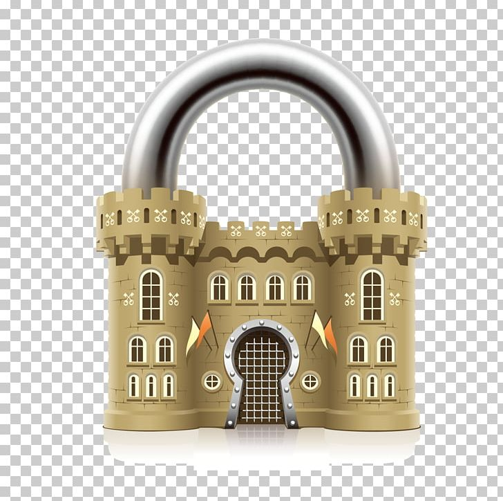 Middle ages padlock castle. Lock clipart real