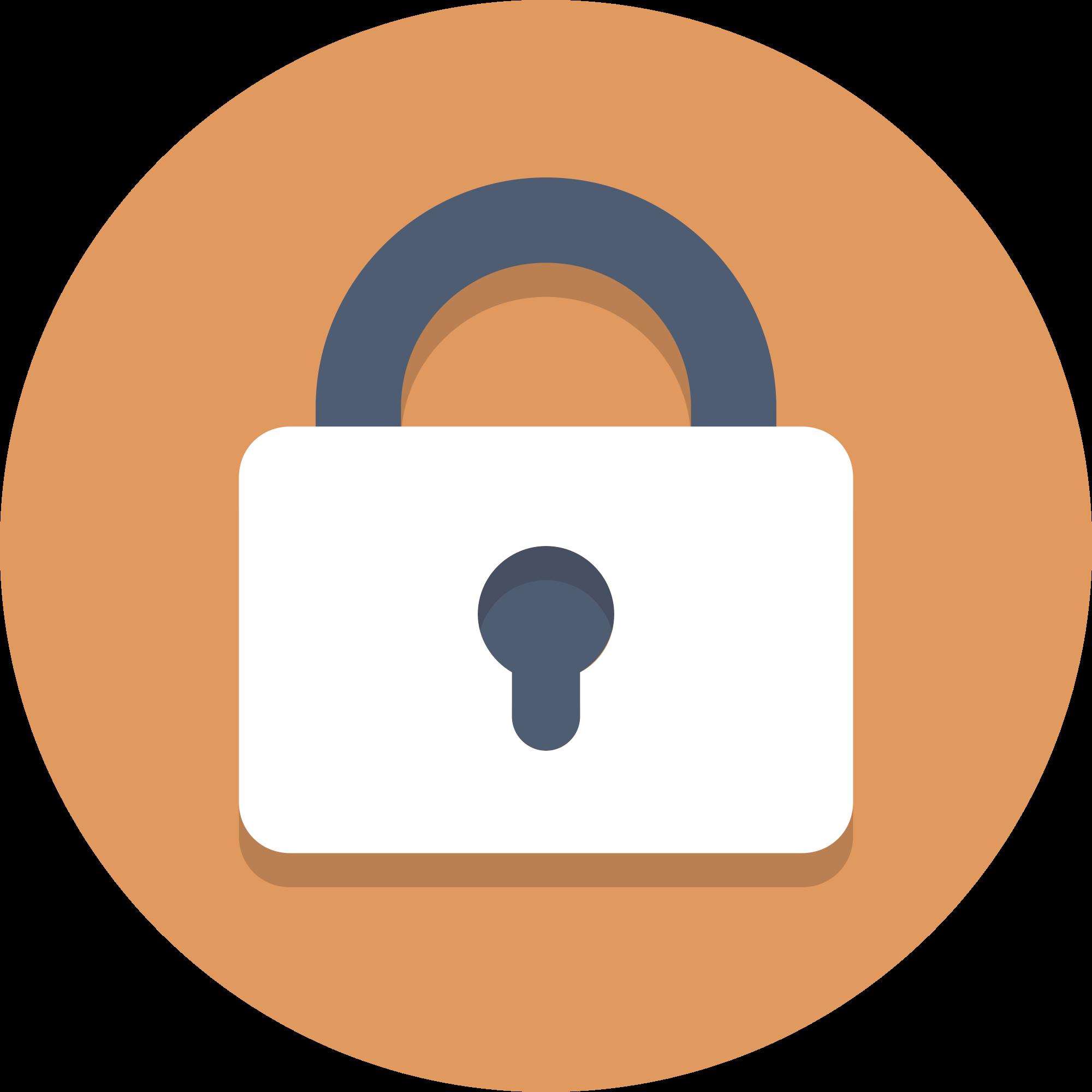 padlock clipart locked