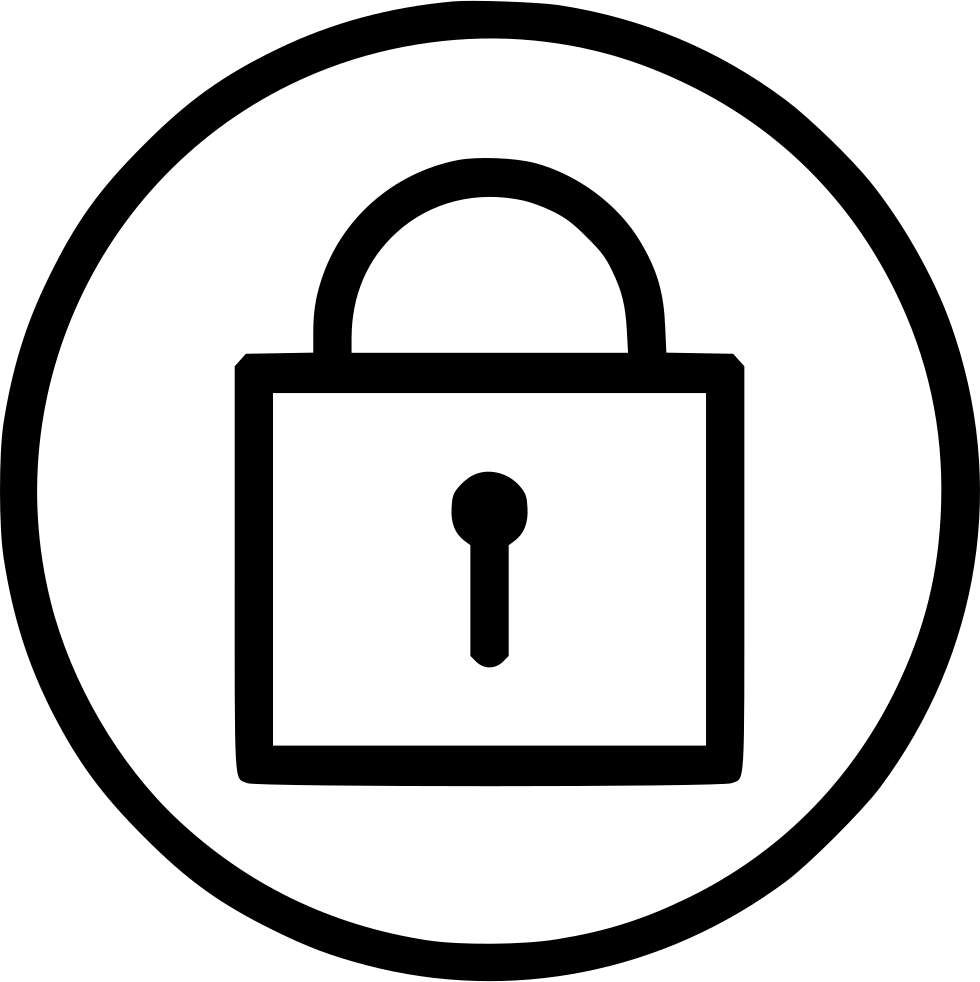 Protect secure privacy security. Lock clipart round lock