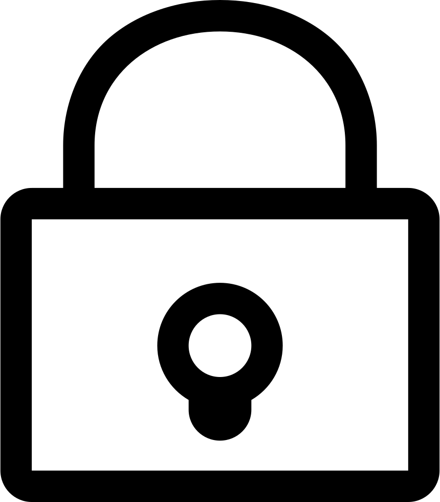 Lock clipart round lock. Svg png icon free