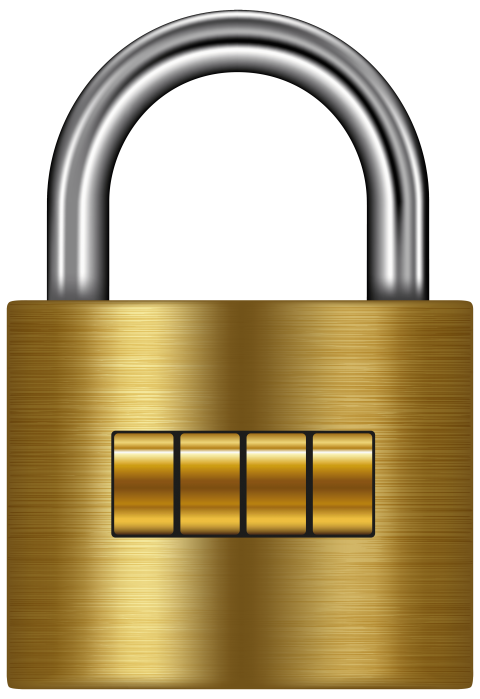 Lock clipart round lock. Gold png free images