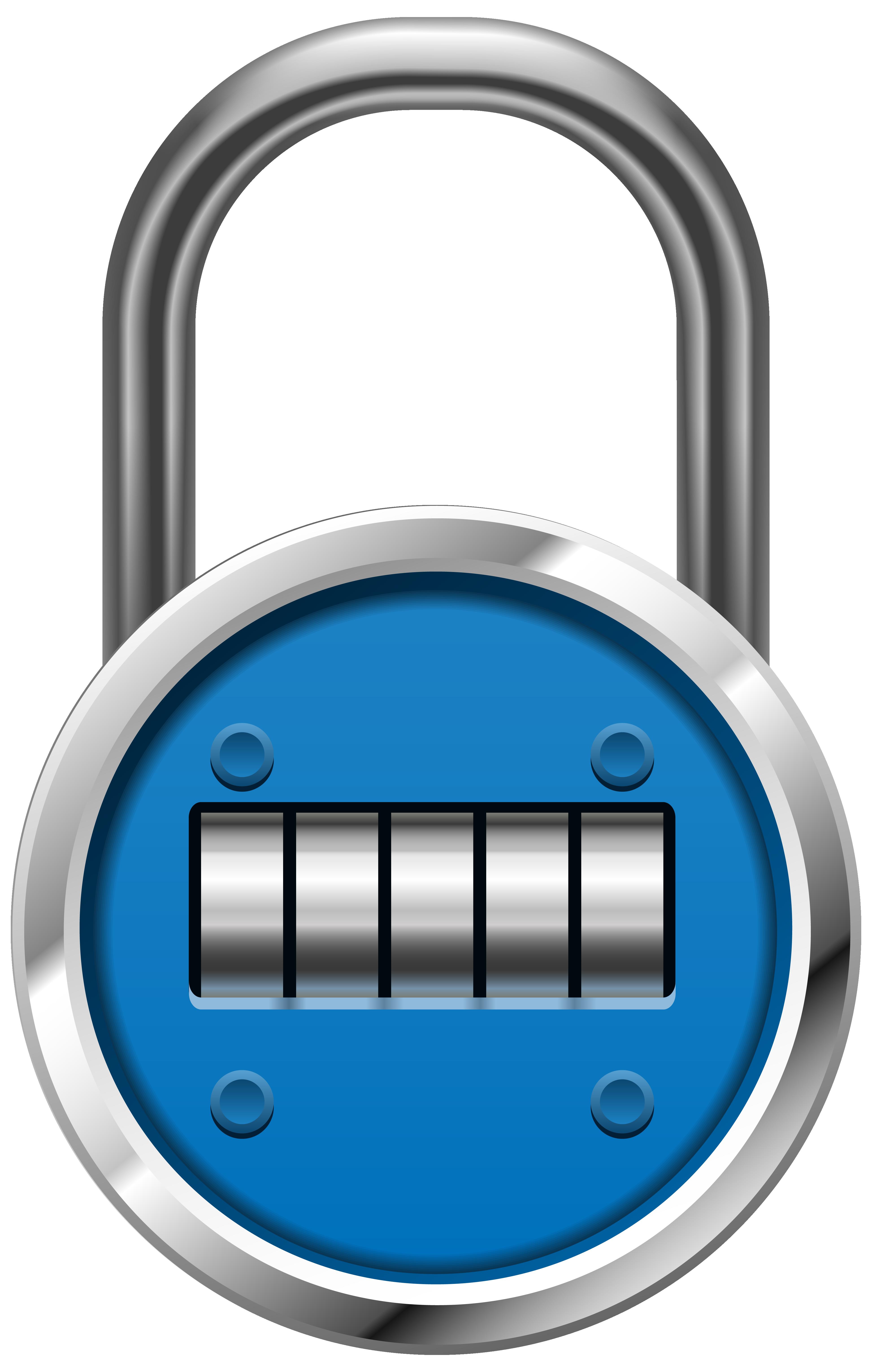 Blue padlock png clip. Money clipart lock