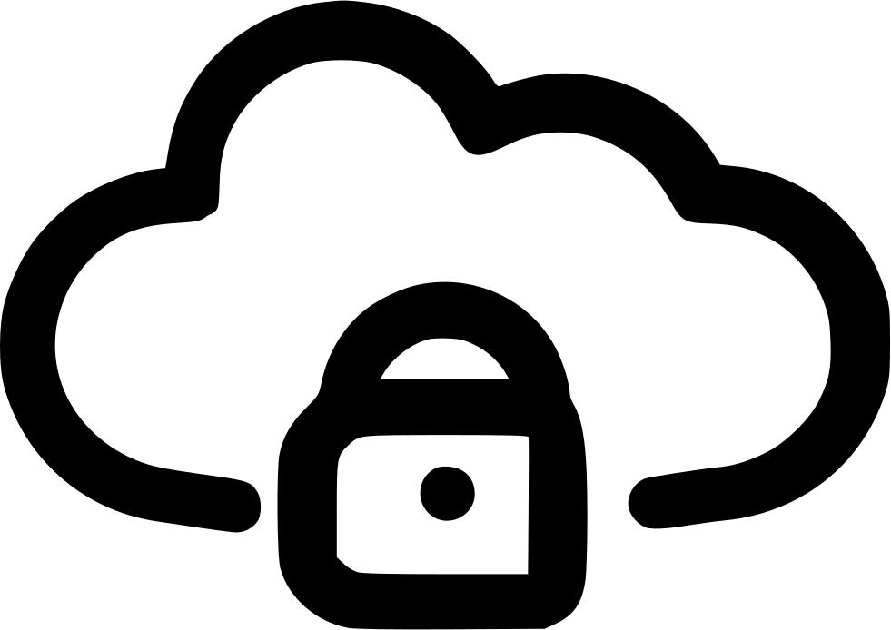 Lock clipart shape. Cloud svg png icon