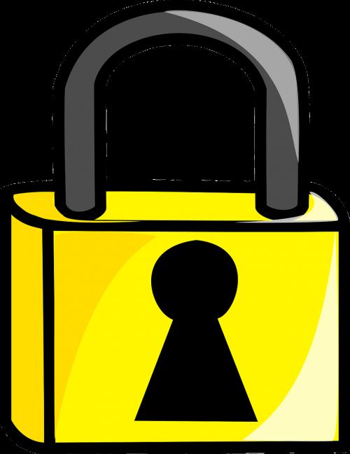 Lock clipart shape. Locked metal protection tool