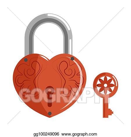 Eps vector decorative in. Lock clipart shape
