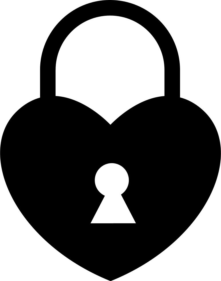 Heart shaped frames illustrations. Lock clipart shape