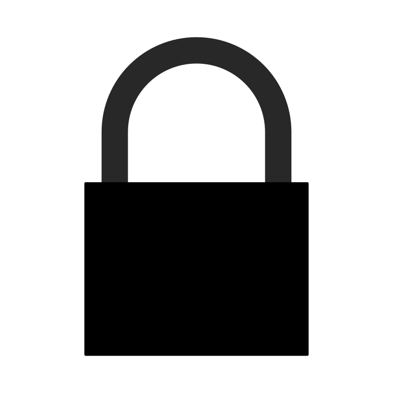 Lock clipart silhouette. Padlock a j medium