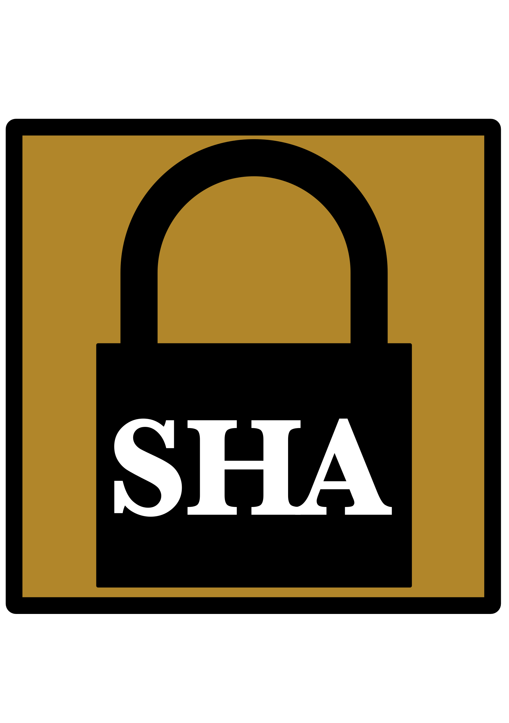 Padlock icon umber sha. Lock clipart silhouette