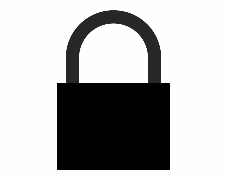 Padlock png of a. Lock clipart silhouette