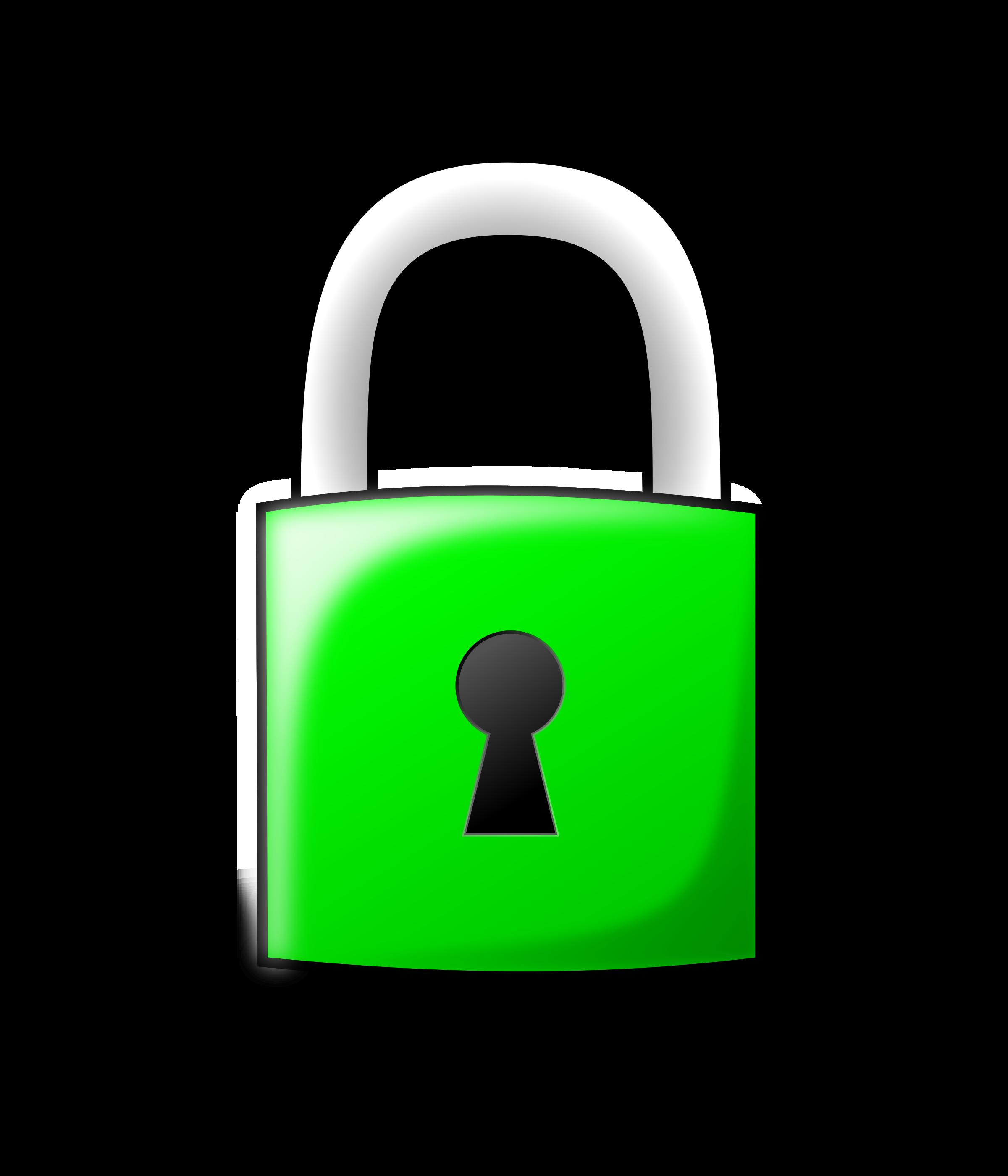 Padlock. Lock clipart simple