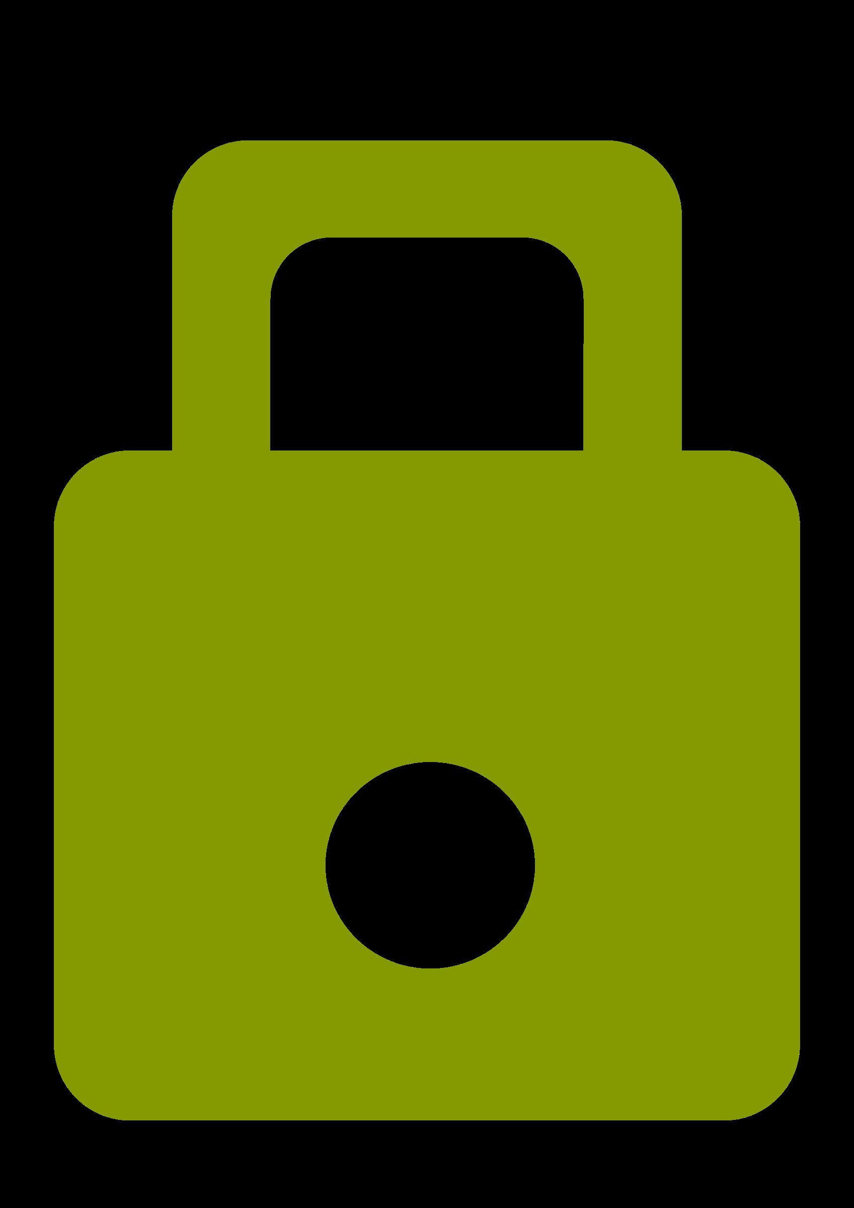 Solarized green big image. Lock clipart small