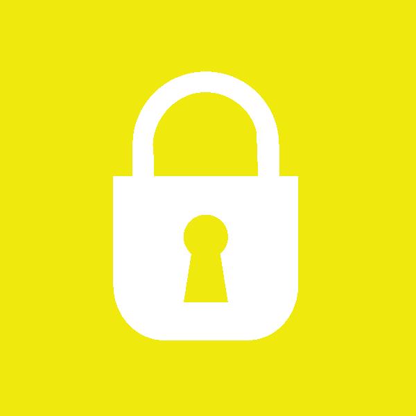 Lock clipart small. Yellow icon clip art