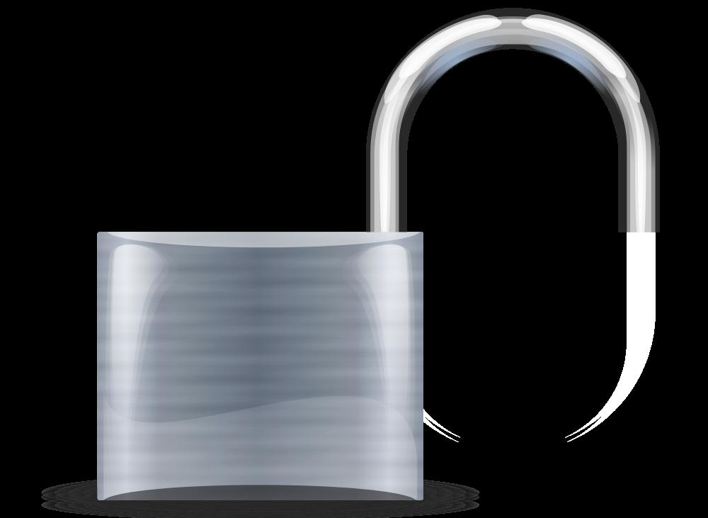 File padlock silver medium. Lock clipart svg