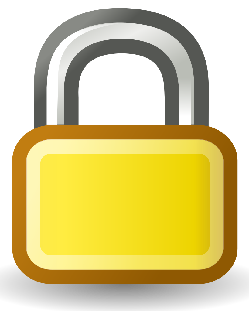 File wikimedia commons filelocksvg. Lock clipart svg