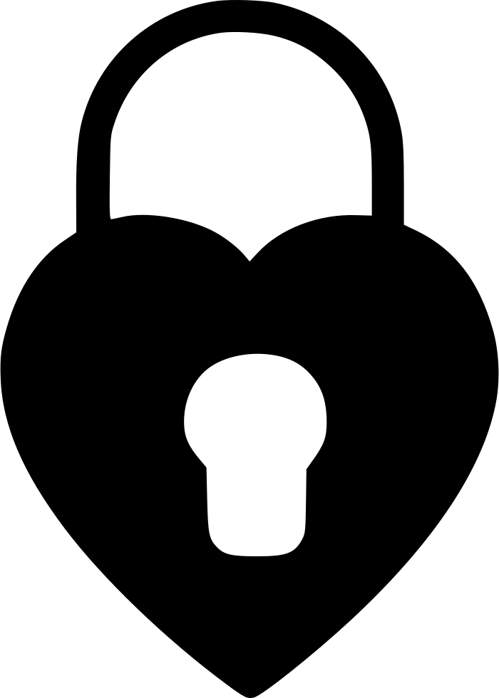 Heart svg png icon. Lock clipart transparent