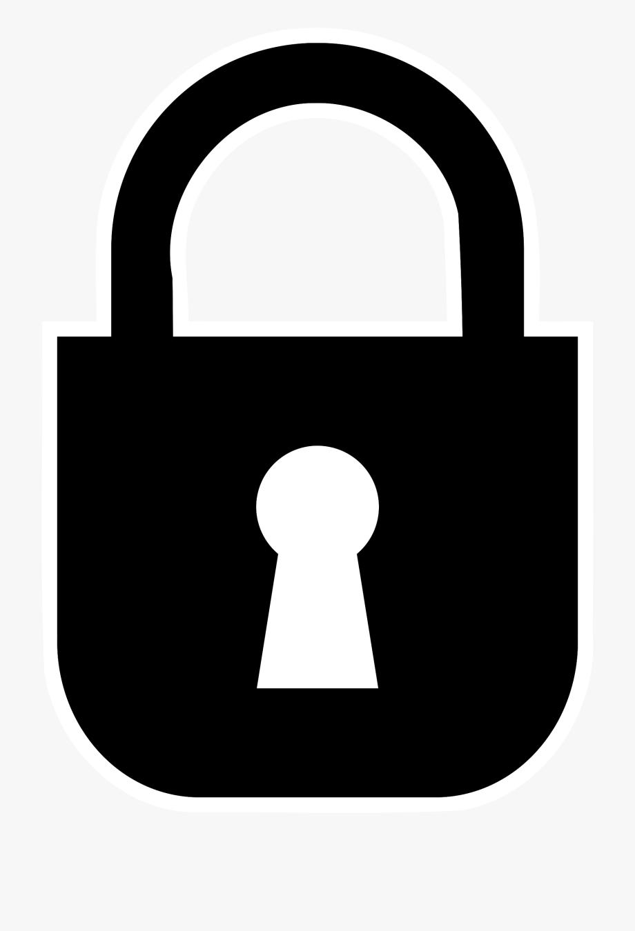 Lock clipart transparent. Padlock monochrome