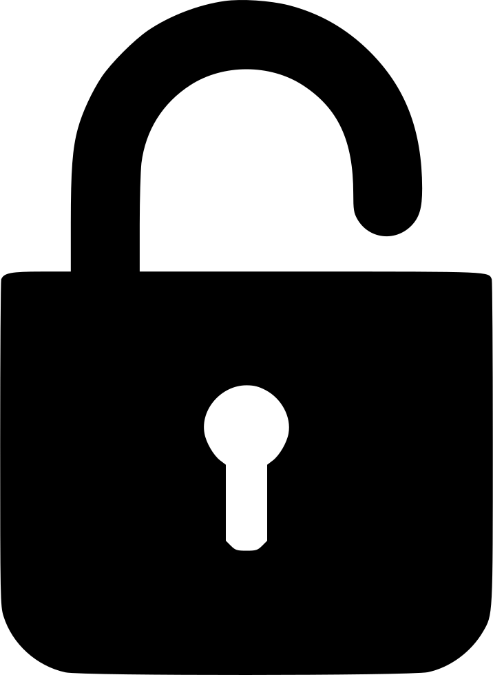 Padlock clipart unlocked padlock. Lock svg png icon